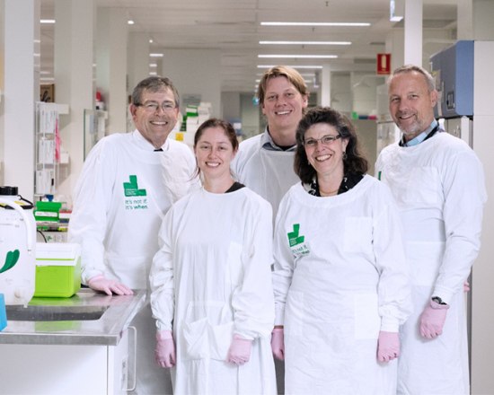 Cancer research team at CCI