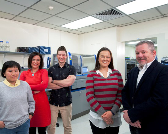 Dr Scott and his team at the Centre for Cancer Biology
