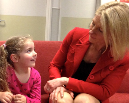 Dr Kelly Anne Phillips at Peter Mac with patients