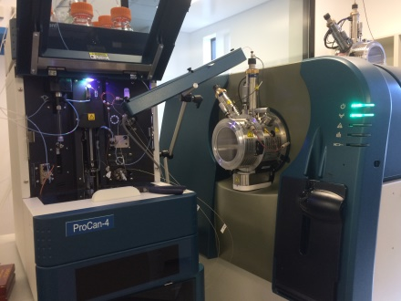 mass spectometer at Pro Can cancer research facility
